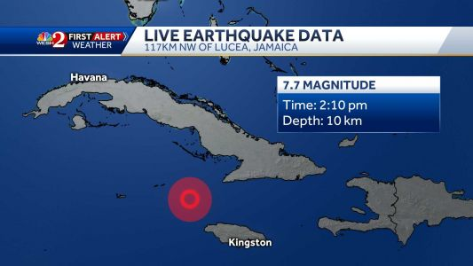 Massive 7.7-magnitude earthquake strikes between Cuba, Jamaica