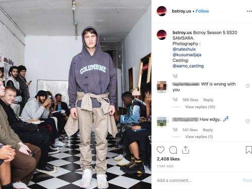 People are outraged after a fashion brand made Columbine and Sandy Hook-inspired hoodies with rips that look like bullet holes