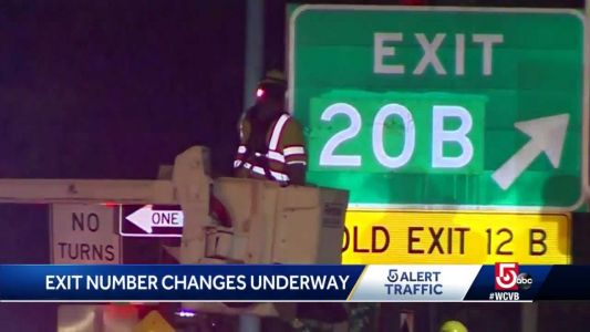 Mass. begins exit number switcheroo on roads across state