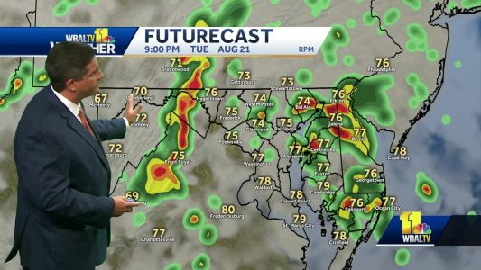 Potential for big thunderstorms, heavy rain