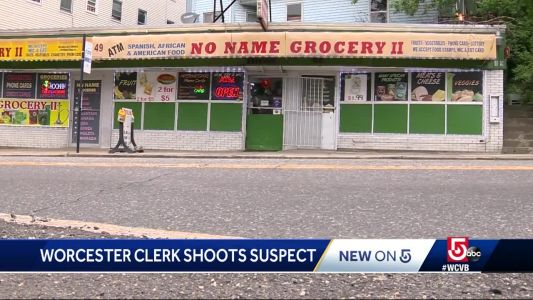 Clerk shot robbery suspect armed with knife, police say
