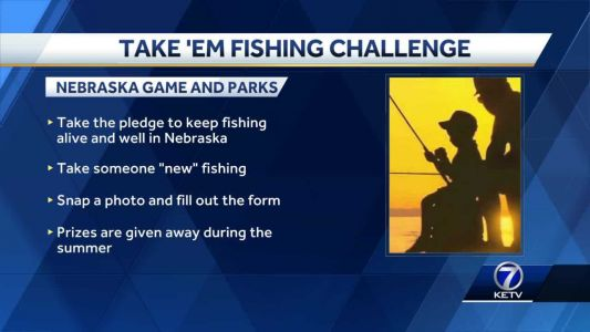 Head outdoors for the Take 'Em Fishing challenge