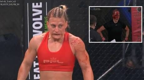 'That was a massacre': Women's MMA phenom Kayla Harrison leaves rival bloodied mess as calls grow for Amanda Nunes fight