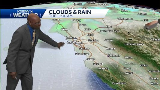 Slightly warmer with chance of coastal drizzle