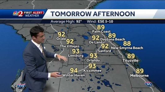 Upper 80s, lower 90s Tuesday