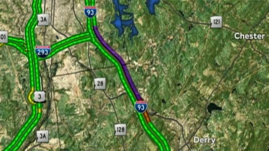 I-93 North closed in Londonderry after tractor-trailer jackknifes