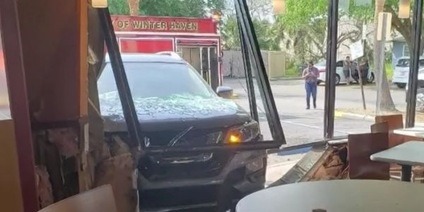Police credit Taco Bell hot sauce for saving man's life, after car smashes into his seat moments after he got up to get some more