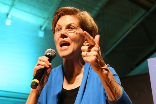 Warren, placing fourth in Nevada, still can't resist a Mike Bloomberg height joke