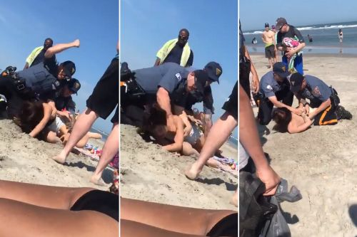 Police launch probe into violent arrest of female beachgoer