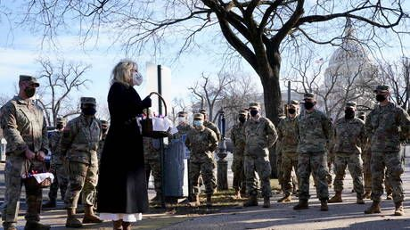 Apologies from Joe, cookies from Jill: Bidens try to smooth over scandal with outcast & Covid-hit National Guard troops
