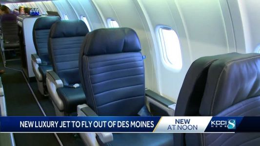 Des Moines flyers get first look at new jet with 20% more leg room