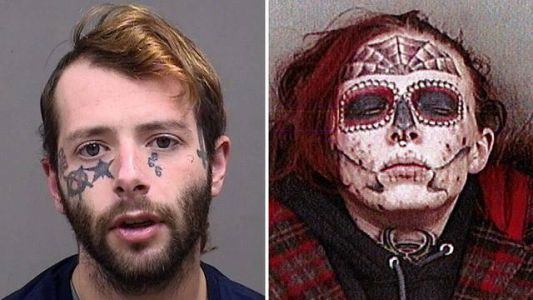Ohio woman with memorable face tattoo arrested for third time in six months