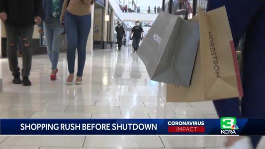 Shoppers hit malls, local shops in advance of looming stay-at-home order