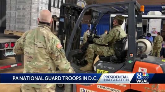 Pa. National Guard members discuss mission in Washington, D.C