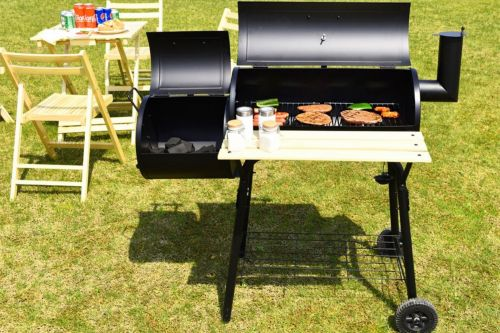 Grill out this year with this charcoal BBQ pit for under $140