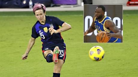 Not worthy enough for woke brigade? Justice crusader Rapinoe claims NBA star 'showed his a**' despite trying to HELP women's sport