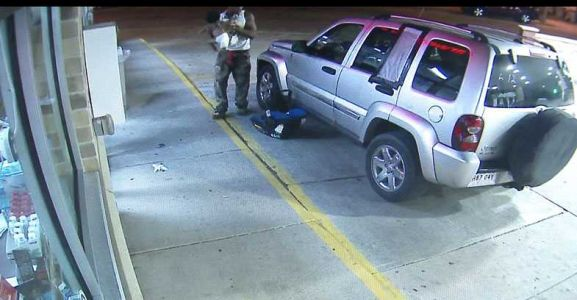 Man attacks woman at gas station, baby thrown from car seat, video shows