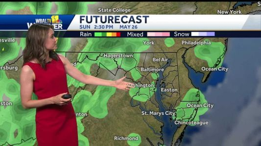 Comfortable day ahead, isolated weekend storms