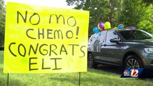 'No mo chemo': Family celebrates end of chemo for 6-year-old boy with parade