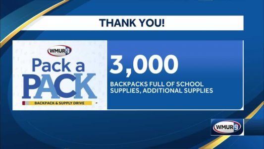 3,000 backpacks full of school supplies collected during 'Pack a Pack' drive