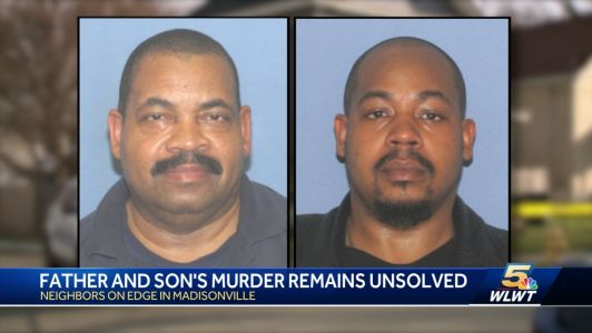 Police still searching for suspects in father-son homicide