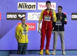Horton applauded by fellow swimmers for stand against Sun