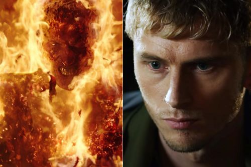 Machine Gun Kelly gets fired up in the Netflix film 'Project Power'