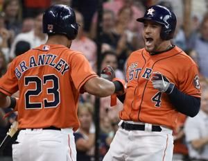 Astros' Springer hit 3 HRs in 1st 4 innings vs Angels