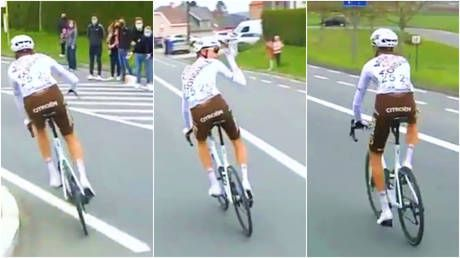 'You should hang your heads in shame': Cycling bigwigs' 'disgrace' after ousting star who dared to lob fans a water bottle