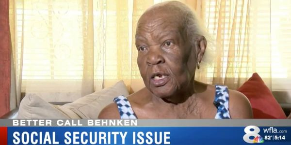 An 84-year-old woman who never attended college says the government cut off her social security over $224,414 in student loan bills