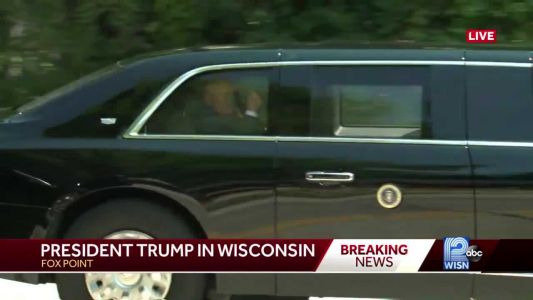President Trump arrives at private GOP fundraiser