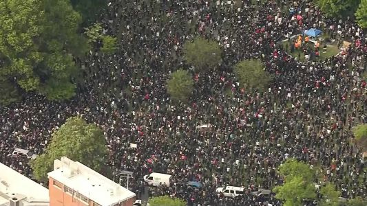Photos: Thousands protest peacefully in Boston during police brutality rally