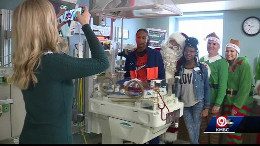Santa visits NICU babies in Kansas City