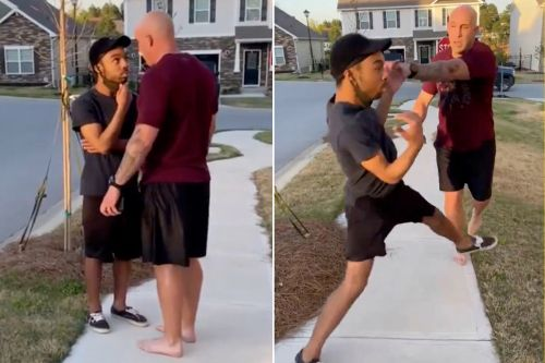 Soldier seen in viral video harassing black man charged with assault