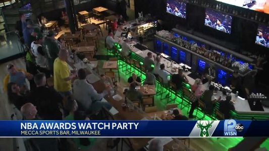 Fans at NBA Awards watch party root for Giannis as MVP