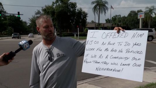 Florida business owner offers homeless man job, when man refuses, tables are turned
