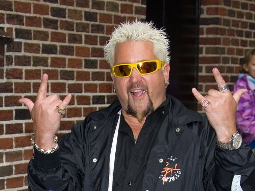 Guy Fieri joked that he's going to bring 'radioactive ribs' for the people planning to 'storm' Area 51