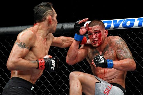 Best UFC and Bellator photos of 2018: Remember that Ferguson-Pettis bloodbath in October?