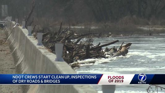 NDOT starts clean up, inspections of roads & bridges following historic flooding