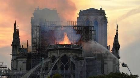 'We all watched with tears in our eyes' as Notre Dame burnt - Putin