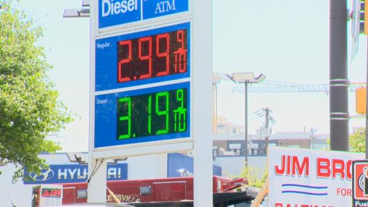 Gas prices up for Memorial Day Weekend