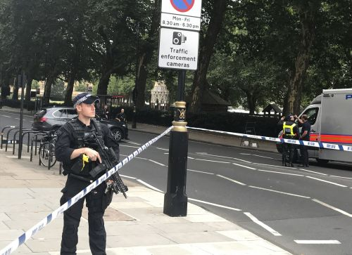 Multiple pedestrians injured after car crashes into barrier outside UK parliament