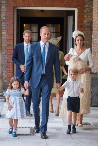 Royal family shares official photos from christening of Prince Louis