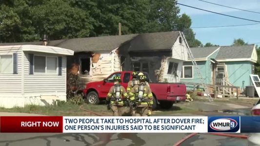 2 taken to hospital after Dover fire