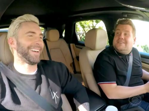 Adam Levine and James Corden were pulled over by police while jamming out for 'Carpool Karaoke'