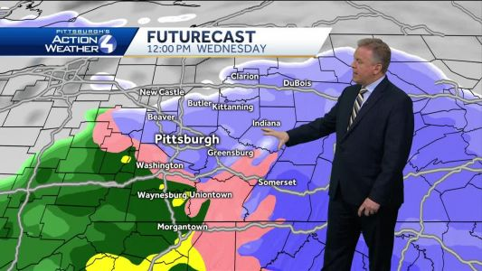 Messy weather system to drop snow, rain across Pittsburgh area on Wednesday: Freezing rain and icy roads possible too