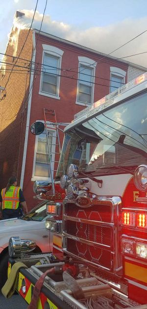 Two homes, five people displaced by Columbia Borough row home fire