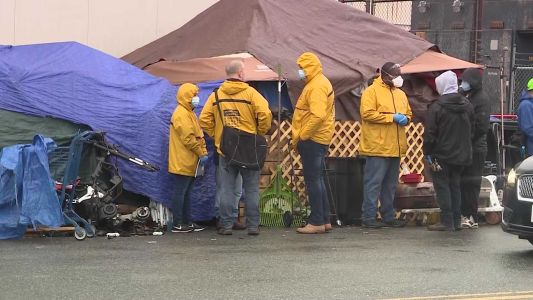 Boston health officials begin to relocate people staying at Mass & Cass