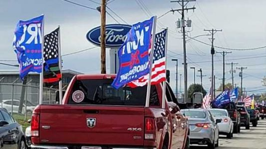 Parade in support of President Trump rolls through Clinton County