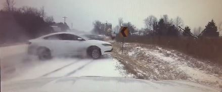 Troopers warn drivers to stay off roads during winter weather
